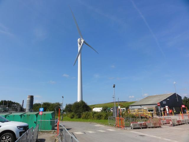 NantyCaws Wind Turbine located at the NantyCaws waste recycling site